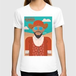 Django unchained, alternative movie poster, american western, minimalist movie poster T-shirt