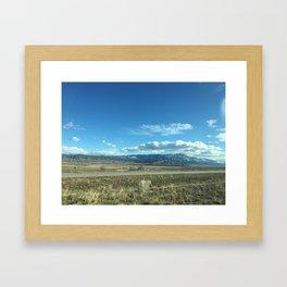 Utah Scrub and Mountains Framed Art Print