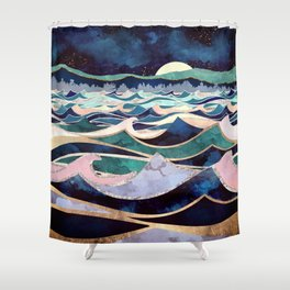 Moonlit Ocean Shower Curtain