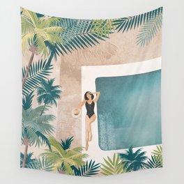 Weekend at my Pool III Wall Tapestry