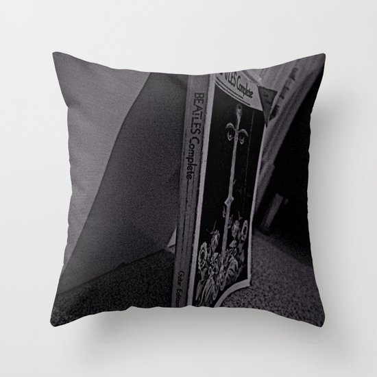 Don't Leave the Book  Throw Pillow