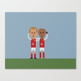 Bergkamp and Henry in Arsenal Canvas Print