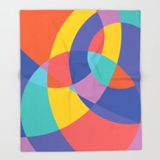 Geometric Beach Ball 1 Throw Blanket
