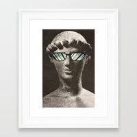 old school Framed Art Prints featuring Old School by flores