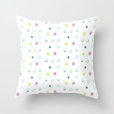 Rosewall buds (on white) Throw Pillow