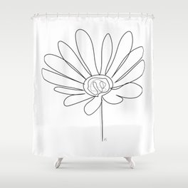 """ Botanical Collection "" - Gazania Flower Shower Curtain"