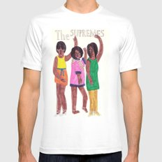 The Supremes SMALL White Mens Fitted Tee