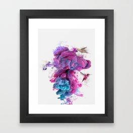 Hummingbirds Ink Framed Art Print