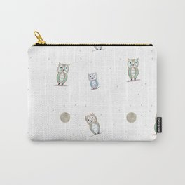 Owl Fun Pattern #1 #drawing #decor #art #society6 Carry-All Pouch
