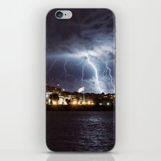 Bolts in the Night iPhone & iPod Skin