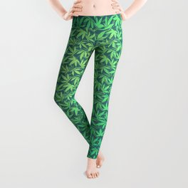 Cannabis / Hemp / 420 / Marijuana  - Pattern Leggings