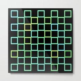 Repeat Green Squares Metal Print