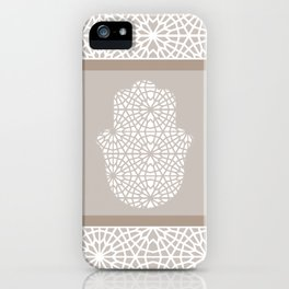 Hamsa in morrocan pattern iPhone Case
