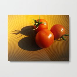 Abstract Tomato Metal Print