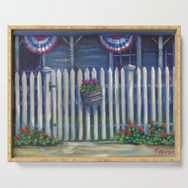 Patriotic Porch Serving Tray