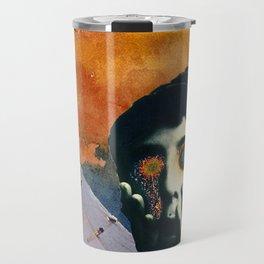 Boy with Fiery Eyes Collage Travel Mug