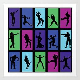 Fort Battle Dance Nite Royale Art Print