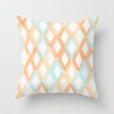 Soft Diamonds Throw Pillow