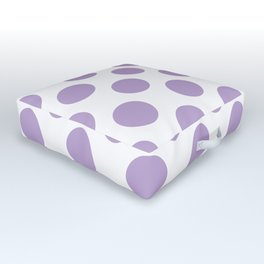 Lavender Large Polka Dots Pattern Outdoor Floor Cushion