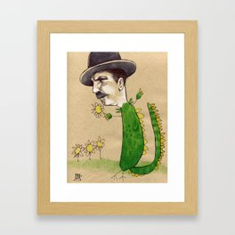 Dragon Guy with Flowers Framed Art Print