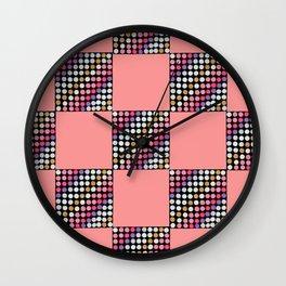 Checker Disco Wall Clock
