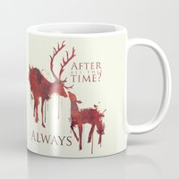 snape Mugs featuring Always by Rose's Creation