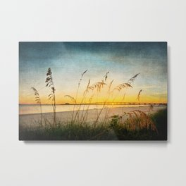 Ocean Springs Beach and Sea Oats Metal Print
