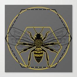 Vitruvian Bee Canvas Print