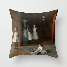 The Daughters of Edward Darley Boit by John Singer Sargent (1882) Throw Pillow