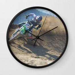 Dishing the Dirt - Motocross Champion Race Wall Clock