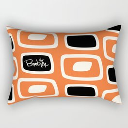OrangeBlack Bombilla Rectangular Pillow