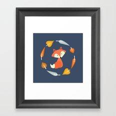 Autumn Fox Framed Art Print