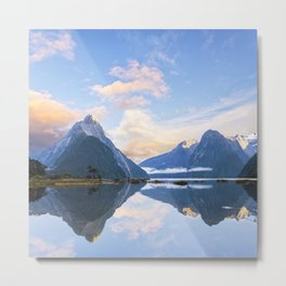 Milford Sound, New Zealand Metal Print