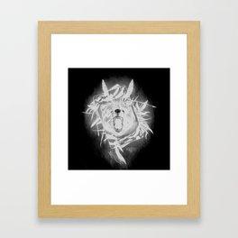 B34R D4RK51D3 (Bear Darkside) Framed Art Print
