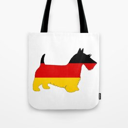 German Flag - Scottish terrier Tote Bag