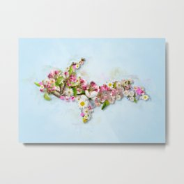 Upper Peninsula Flowers Metal Print