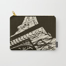 Eiffel Tower, Paris in black and white Carry-All Pouch