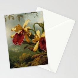 Martin Johnson Heade - Orchids and Hummingbird Stationery Cards