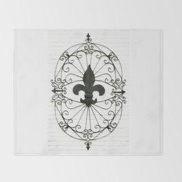 Wrought Iron Fleur de Lis Throw Blanket