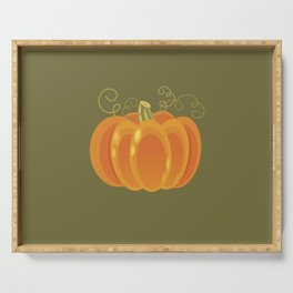 Pumpkin Serving Tray