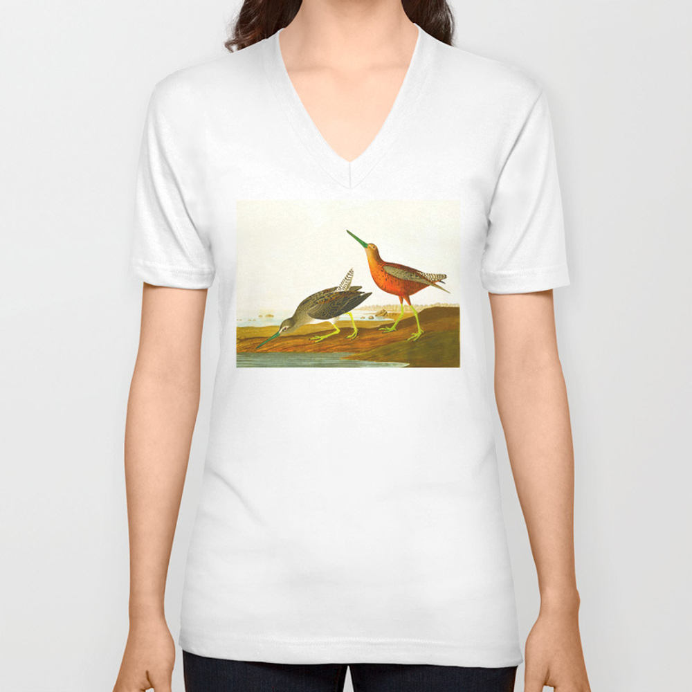 Red-Breasted Snipe Bird Unisex V-Neck T-shirt by enshape (VNT6426545) photo