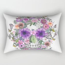 flower  skull Rectangular Pillow