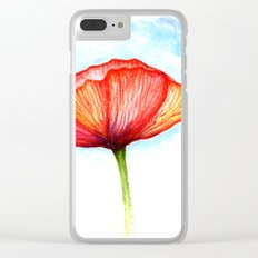 Papaver II Clear iPhone Case