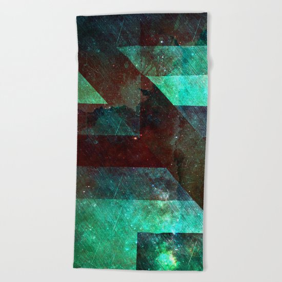 Emerald Nebulæ  Beach Towel