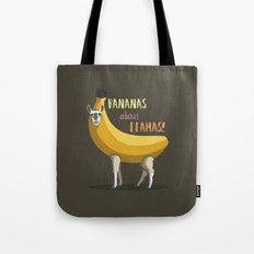 Bananas About Llamas! Tote Bag