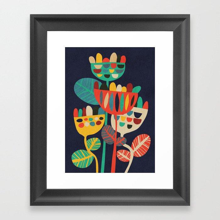 Wild Flowers Framed Art Print by budikwan | Society6