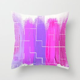 Purple Palette, Pastels, Pinks, Purples, Hues Throw Pillow