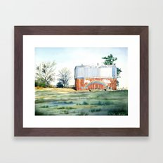 Rainbow Barn Framed Art Print