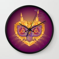 majora Wall Clocks featuring Steampunk Majora by Evan Ayres