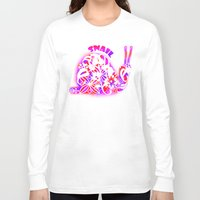 snail Long Sleeve T-shirts featuring Snail by VirgoSpice